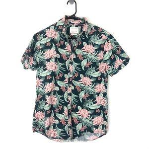 Cactus Man Ricky Singh Slim Tropical Floral Button